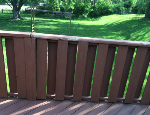 Porch Deck Before Staining