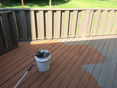 Porch Deck Staining