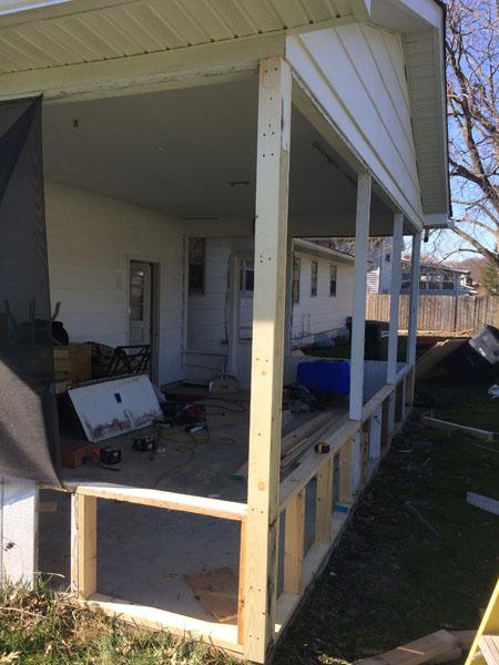 Porch Renovation Process